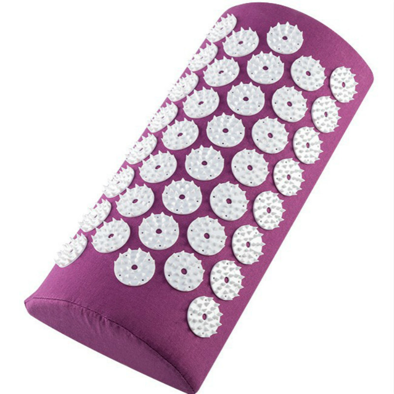 Acupressure Massage Mat with Spike and Cushion Set for Back and Neck Pain to release Stress Pain and tension 2