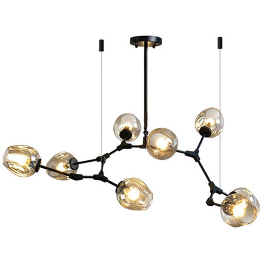 LED en verre nordique lustre éclairage lampes suspendues lumière lampes suspendues italiennes salle à manger cuisine Avize luminaires