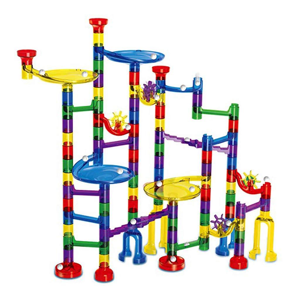 122 pièces bricolage assemblé piste blocs de construction balle jeu de course jouets éducatifs cadeau d'anniversaire pour enfants enfant en bas âge