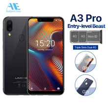 """UMIDIGI A3 Pro 5.7""""19:9 FullScreen smartphone 3GB+16/32GB Quad core Global Band 12MP+5MP Face ID Android 8.1 4G LTE Cell phone"""