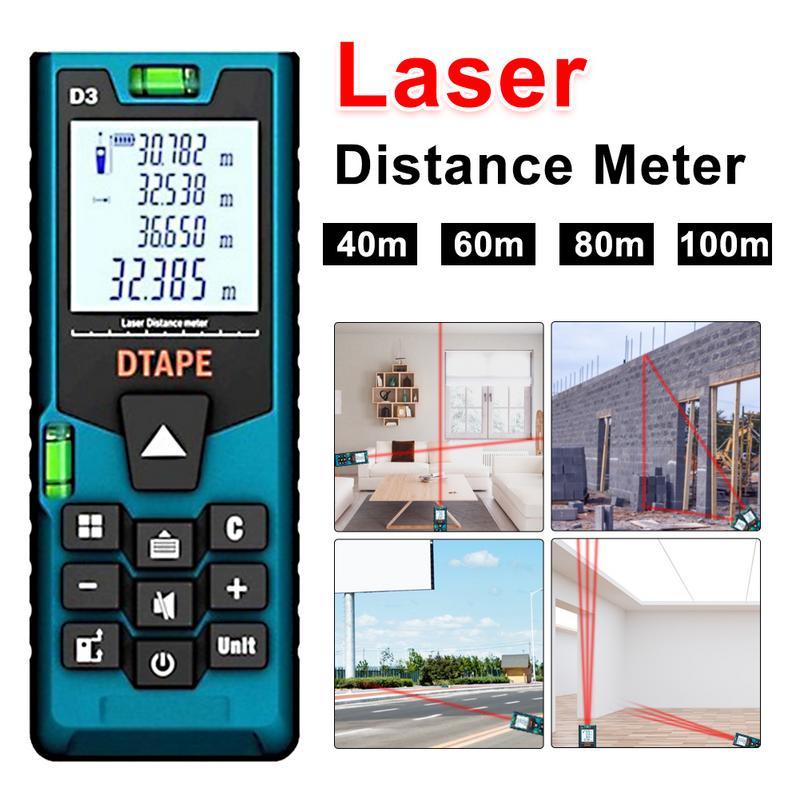 D3 Digital Laser Range Finder Infrared Measuring Instrument Length Distance Area Volume Measuring Room Instrument Table