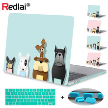 Redlai Case For Macbook Pro 13 15 Touchbar A1706 A1707 Pro Retina 13.3 12 15.4 Air 13 11 Cartoon Dog Print Hard Case Cover Shell цены онлайн