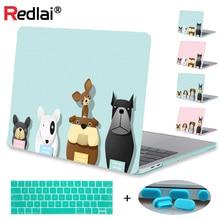 Redlai Case For Macbook Pro 13 15 Touchbar A1706 A1707 Retina 13.3 12 15.4 Air 11 Cartoon Dog Print Hard Cover Shell