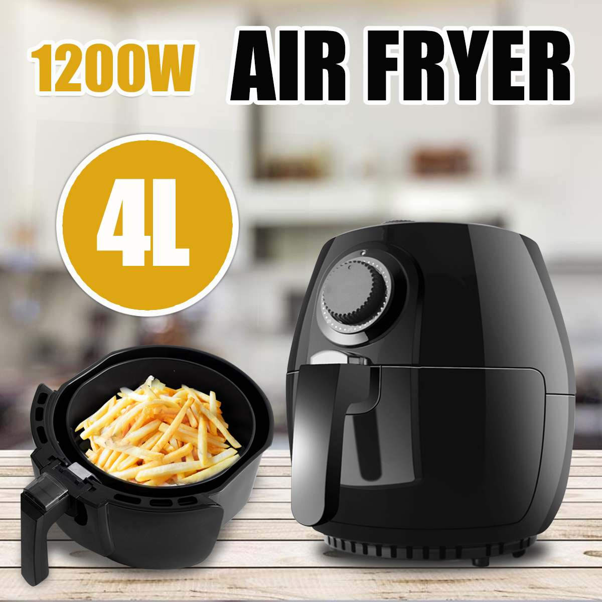 4L 1200W Electric Air Fryer Household Intelligent French Fries Oilless Heathly Cooker French Fried No Oil Fryer4L 1200W Electric Air Fryer Household Intelligent French Fries Oilless Heathly Cooker French Fried No Oil Fryer