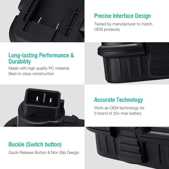 Baterías Dewalt 20v | Adaptador Convertidor De Batería Usb Bps18D Para Cable De Portero De Decker Negro Batería De Litio Max De 20V Para Dewalt 18V Nicad Nimh B