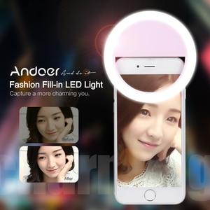 Image 2 - Andoer Selfie แบบพกพา Mini Clip on ไฟ LED 36 LED Selfie Ring Light สำหรับ iPhone X 8 7 Plus สำหรับ Samsung Huawei Ringlight