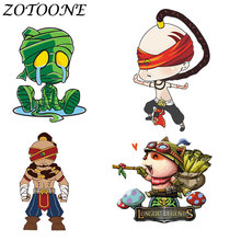 ZOTOONE Iron on Patches lol Cartoon Character Thermotransfer for Clothes Transfer Patch Stickers Tactical E