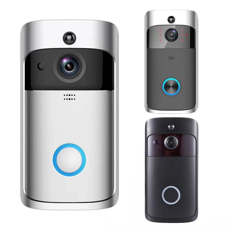 Hardware Door Viewers Realistic V5 Visual Wifi Smart Doorbell 2 Way Talk 720p 1mp Camera Pir Motion Sensor Ir Night Vision Door Phone Intercom
