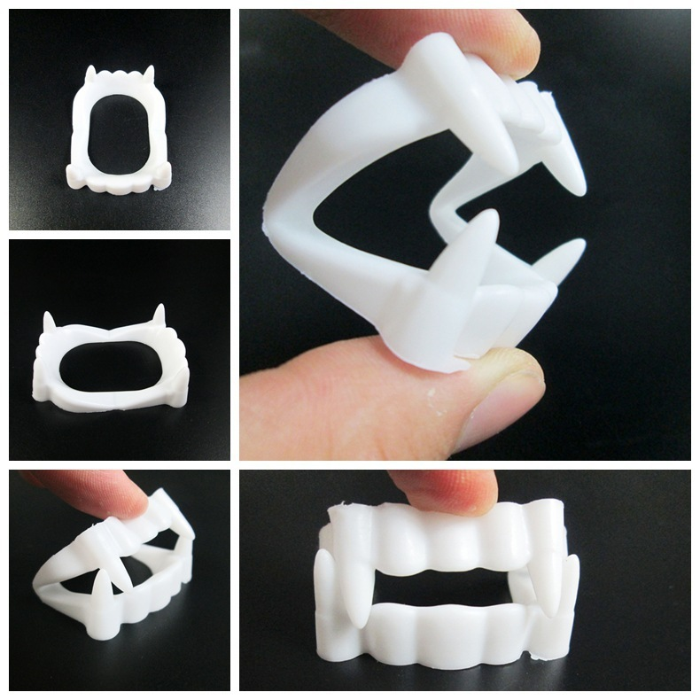 Environmental Protection Terror Corpse Vampire White False Teeth Halloween Prop Articles Intimidate Persecute Others Tricky Toys