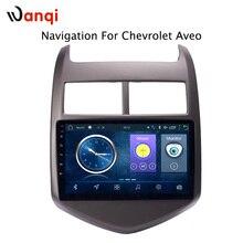 9 дюймов android 8,1 автомобильный dvd Мультимедиа gps навигационная система для Chevrolet Aveo/Sonic 2011-2013 Встроенная радио видеокамера BT Wifi RDS