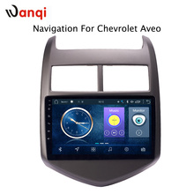 9 inch android 8.1 car dvd multimedia gps navigation system for Chevrolet Aveo/Sonic 2011-2013 built-in Radio Video Bt Wifi RDS