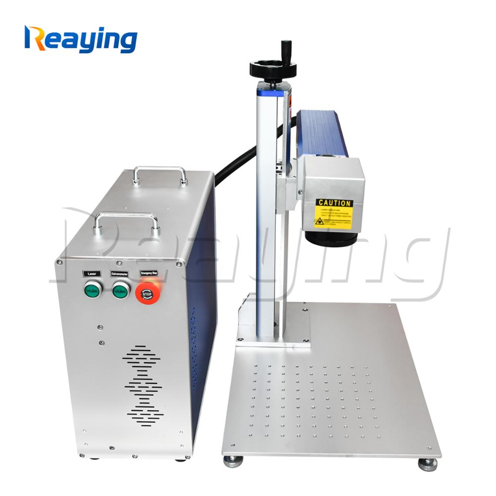 2 year warranty 50 watt portable split fiber laser engraving machine metal marking with free Ezcad software