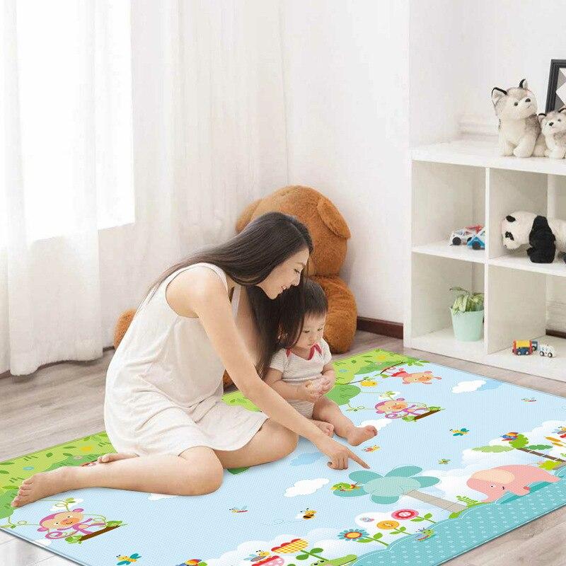 Bébé Tapis de Jeu 2x1.8 m Tapis de Jouets pour Enfants Puzzle Enfants En Développement Tapis Tapete Infantil Maternelle Bébé ramper Tapis
