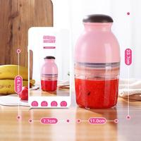600ml Portable Juice Blender Juicer Cup Multi function Electric Baby Food Mills Baby Food Containers Storage Rechargeable