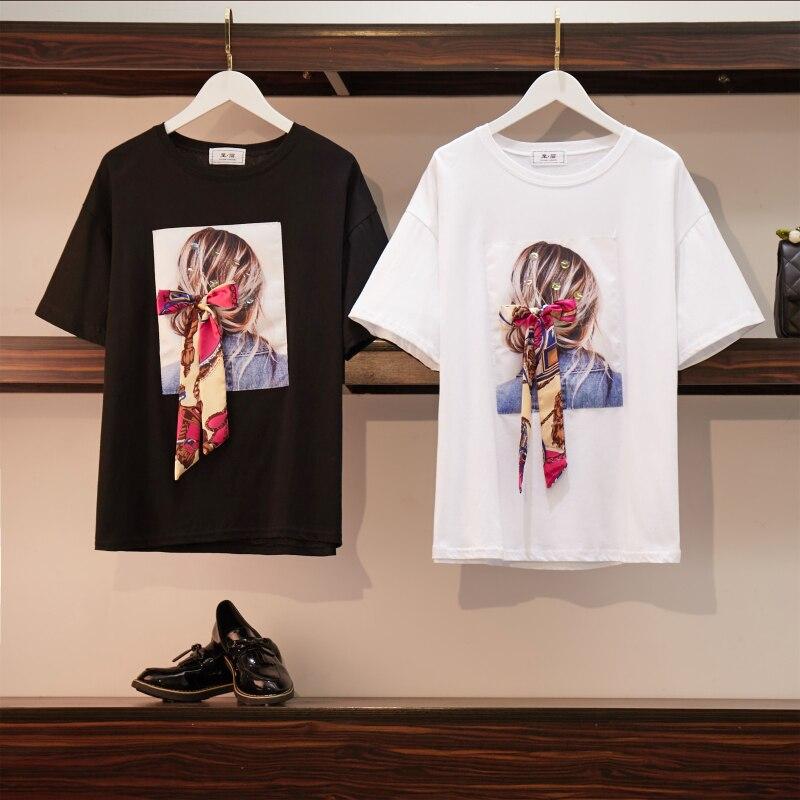 varios diseños buscar autorización Códigos promocionales Banulin 2019 moderna camiseta de mujer de algodón blanco camisetas de  verano Casual Harajuku ...
