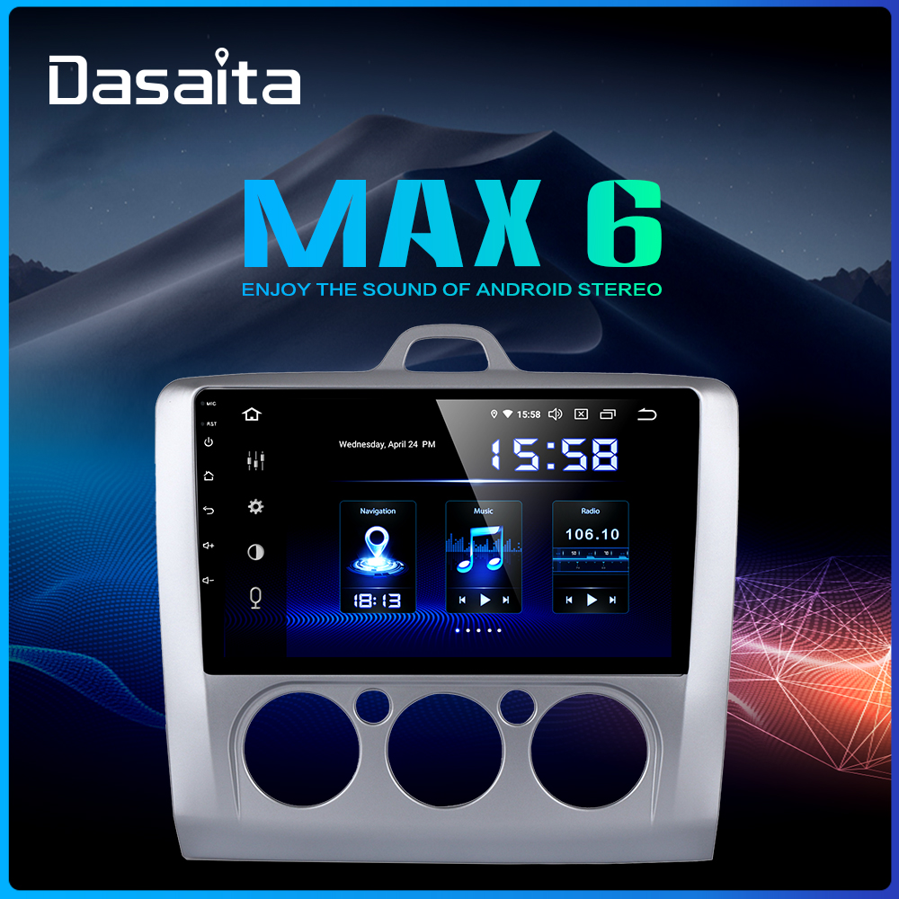 Dasaita 9 IPS TDA7850 Car Android 9 0 Radio Player for Ford Focus 2 2002 2003