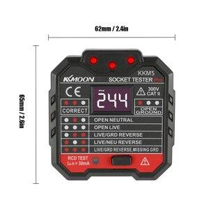 Image 4 - Digital Display Elektrische Steckdose Tester Wand Stecker Polarität Phase Überprüfen Detektor Outlet Spannung Test Elektroskop UK Stecker 30mA