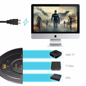 Image 3 - 3 Port HDMI Splitter Adapter Cable 1.4b 4K 2K 1080P Switcher HDMI Switch 3 in 1 out Port Hub for HDTV Xbox PS3 PS4
