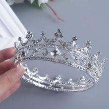 Barroco vintage reina rey novia Tiara corona para las mujeres tocado Prom nupcial boda Tiaras y coronas sombreros de fiesta