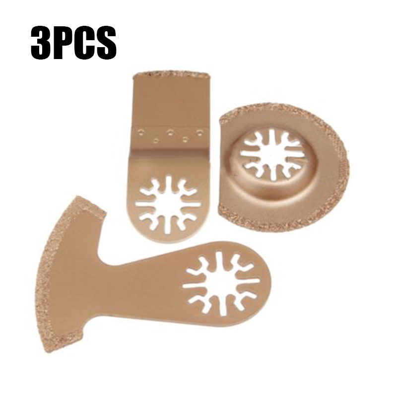Carbon Steel Multi tool Oscillating Cutting Saw Leave Blade Cutter Tile Stone Gold Set 3 pc Cutter OscillatingCarbon Steel Multi tool Oscillating Cutting Saw Leave Blade Cutter Tile Stone Gold Set 3 pc Cutter Oscillating