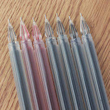 1 pcs Large Capacity Diamond Head Gel Pen 0 38mm Financial Needle Students Stationery Carbon Pen(China)