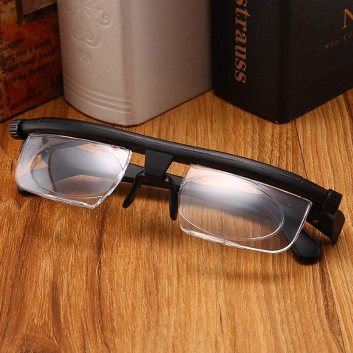 New Focus Adjustable Lens  Men Women Reading Myopia Glasses Variable Vision Strength Glasses Correction Binocular Drop Shipping
