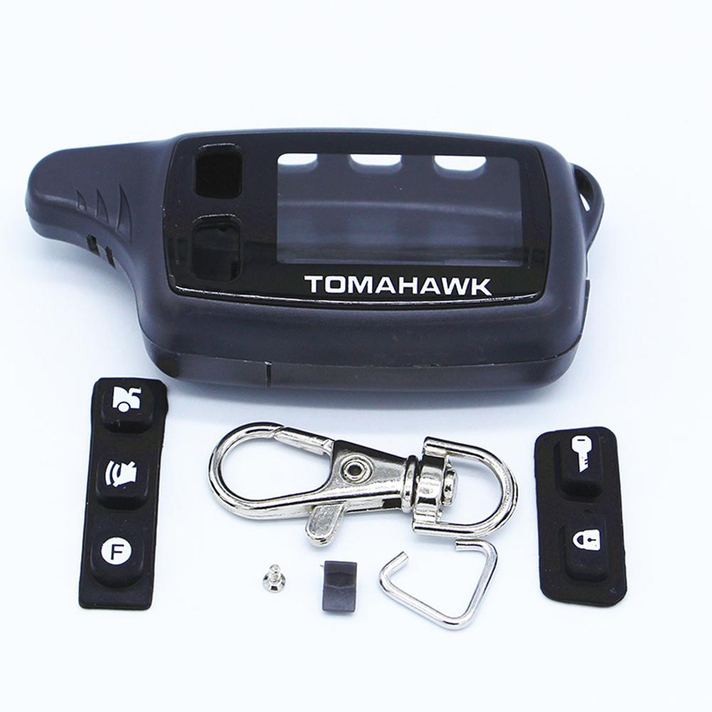 Case Keychain For Russian Two Way Car Alarm TOMAHAWK TW9010 Two Way Car Alarm Remote Controller Accessories Parts Supplies