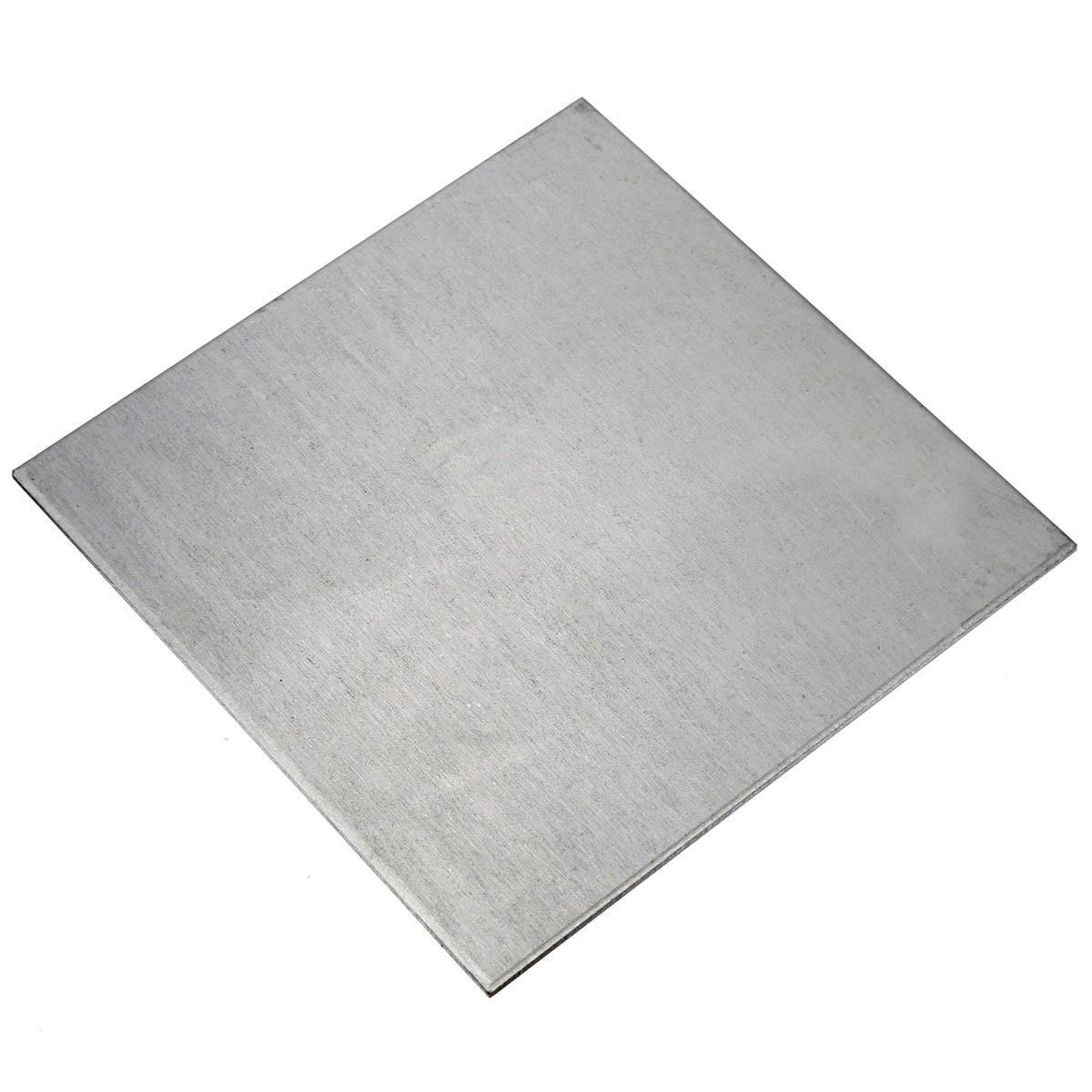 New 1Pcs 100x100x2mm Silver Titanium Plate Titanium Ti Plate Sheet Gr2 Grade 2 ASTM B265 High Quality For Power Tool
