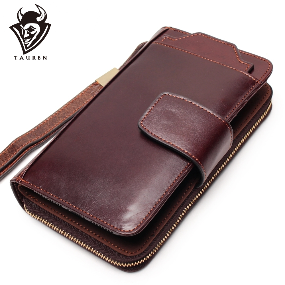 Business Clutch Bag Detachable Wristband Men Wallet Slidable 