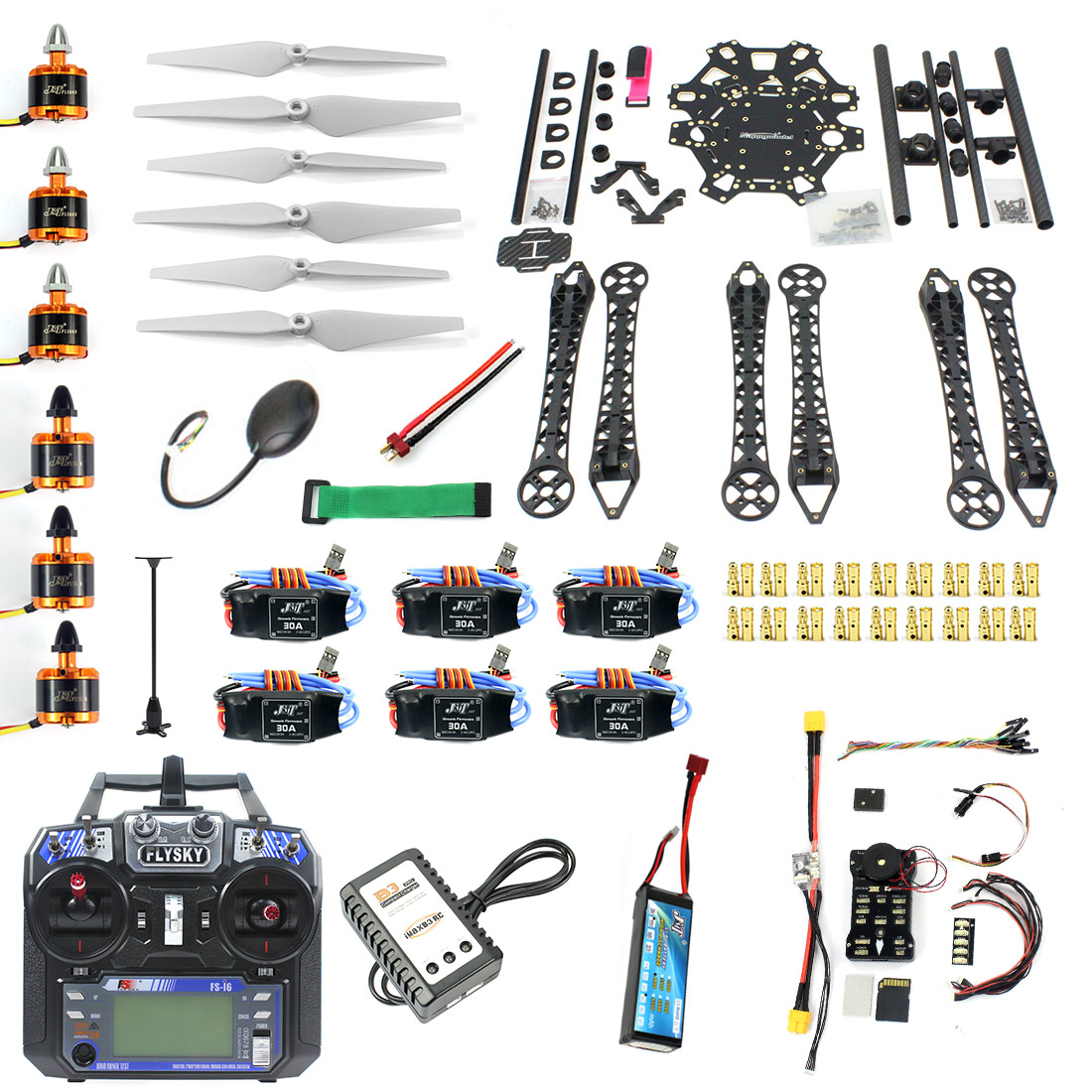 F08618-u Diy Fpv Drone Hexacopter 6-axle Aircraft Kit Hmf S550 Frame Pxi Px4 Flight Control 920kv Motor Gps Fs-i6 Transmitter