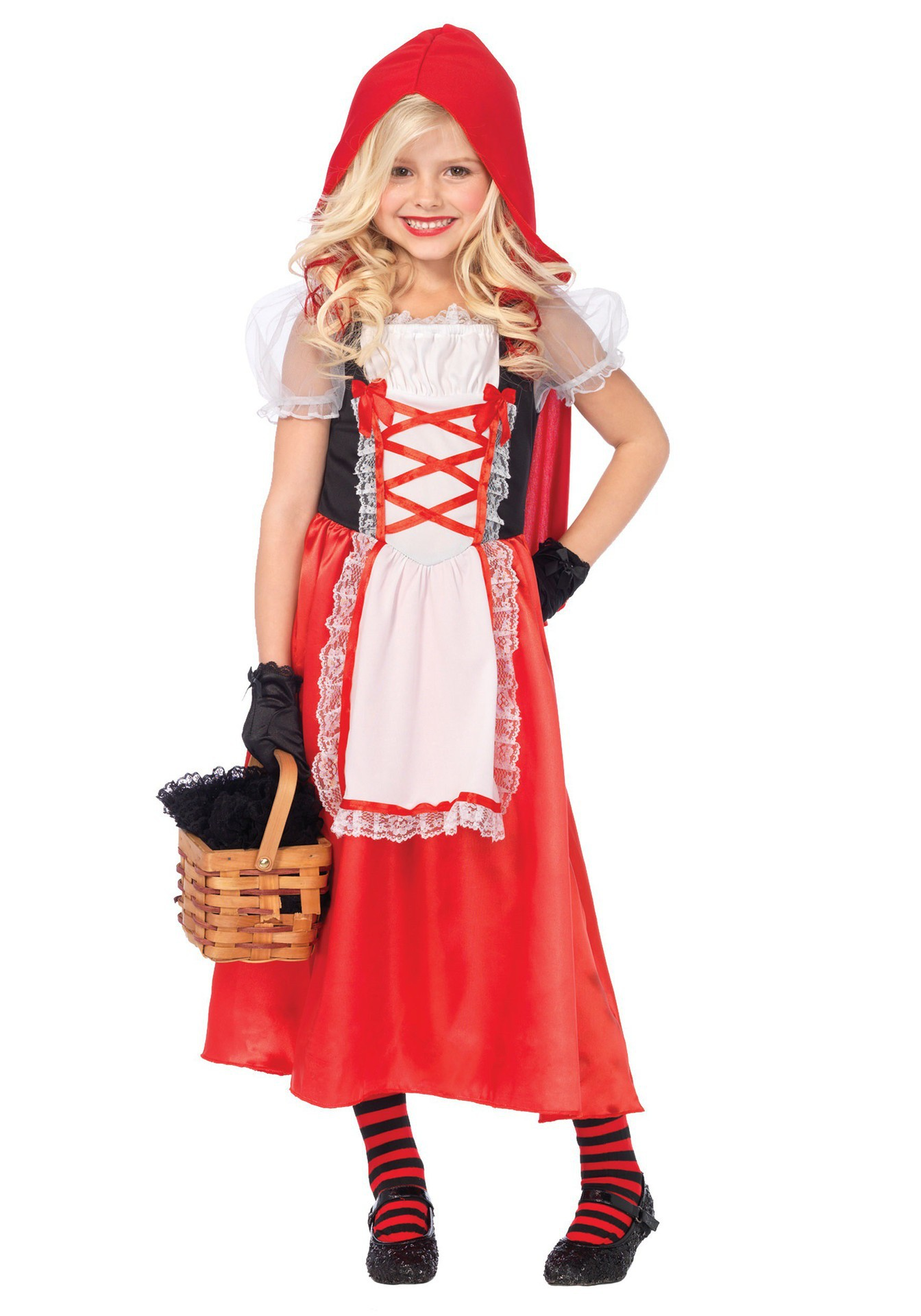 Little Red Riding Hood Costume For Girl Children Kid Fantasia Halloween Party Cosplay Fancy Dress Oktoberfest Child Maid Uniform