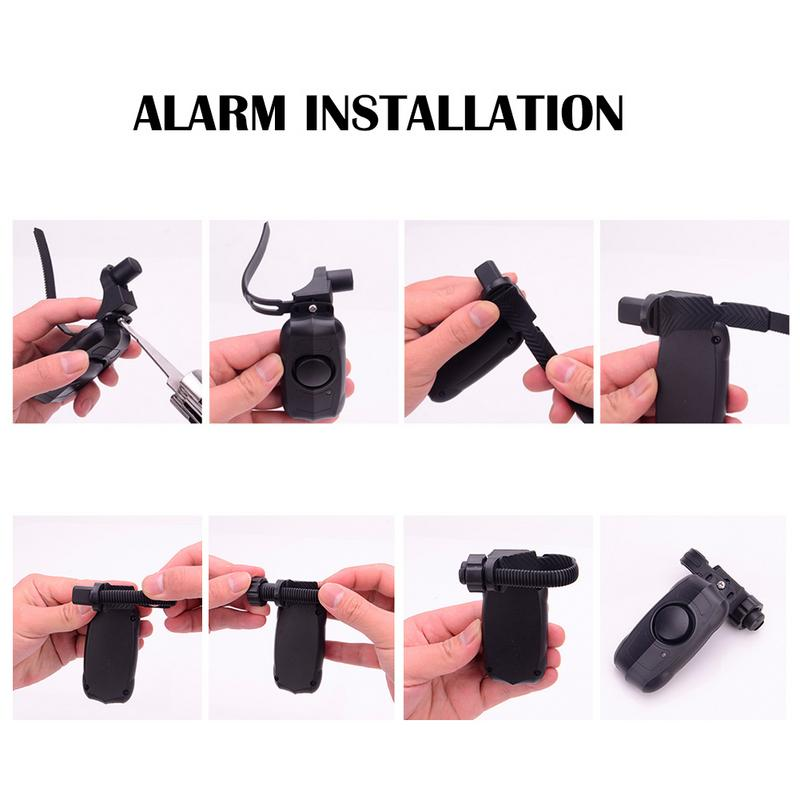 110dB USB Rechargeable Wireless Anti-Theft Vibration Motorcycle Bike Bicycle Security Lock Alarm with Remote Control