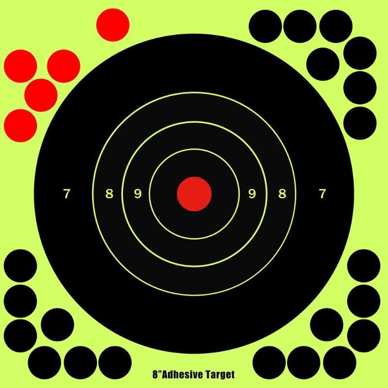 20pcs Splash Flower Target 8-inch Self Adhesive Splatterburst Targets Sticker Reactive Shooting Targets Aim Hunting Accessories
