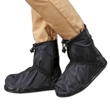 Unisex Reusable Waterproof Shoe Cover Non-Slip Overshoes Mid-tube Wear-resistant Rainboots ~
