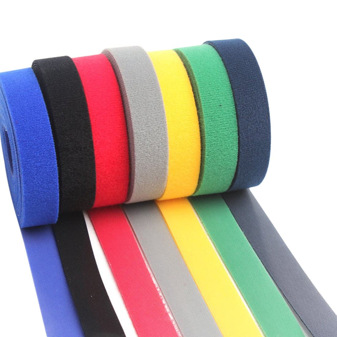1 Roll Self Adhesive Reusable Cable Tie Nylon Fastener Hook and Loop Strap Cord Ties PC TV Organizer 10mm x 5m(China)