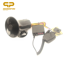 Car Horn 12V 100W Speaker 3 Police Siren Sound  Alarm Elector MIC PA System Megaphone for VW Train Boat Ship