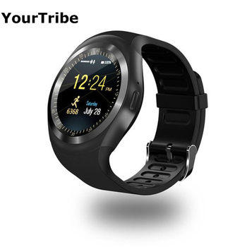 YourTribe Y1 Bluetooth Smart Watch Android SmartWatch support GSM Sim Remote Camera Information Display Sports Pedometer watch умные часы smart watch y1