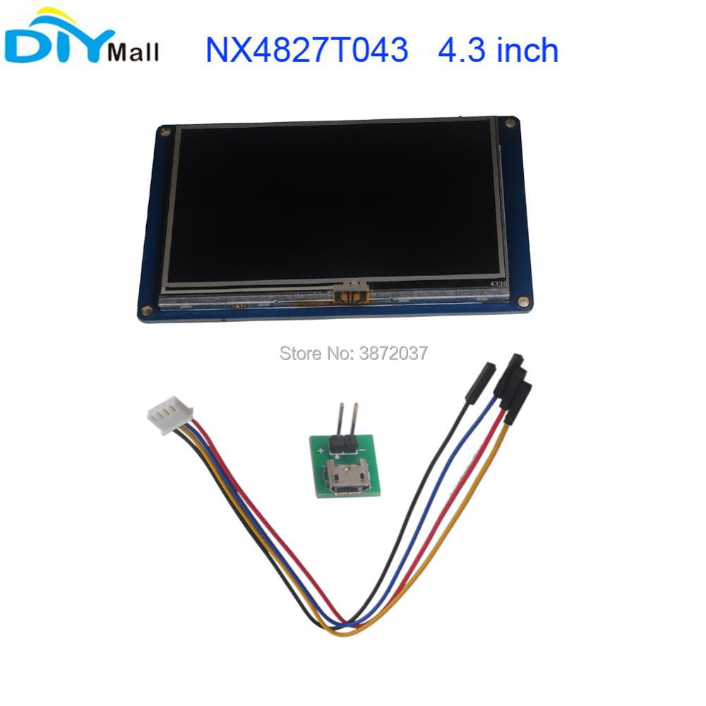 Nextion 4.3 TFT 480x272 NX4827T043 HMI Resistive Touch Screen UART Smart Display Module for Arduino Raspberry Pi ESP8266 image