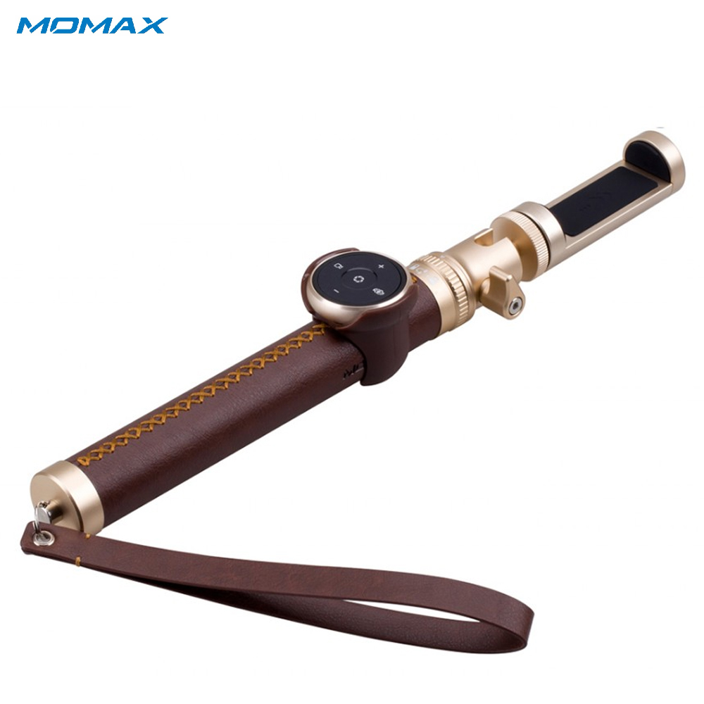 Selfie Sticks Momax KMS4L Camera Photo Handheld Gimbal monopod for smartphone action sg407 double bracket bridge dual holder handle grip monopod mount adapter for action camera