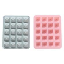 20 полости отверстия Алмазная силиконовая форма для мороженого инструмент Мульти-вода каштан торт подложка DIY лоток для льда шоколадная форма выпечка хлеб