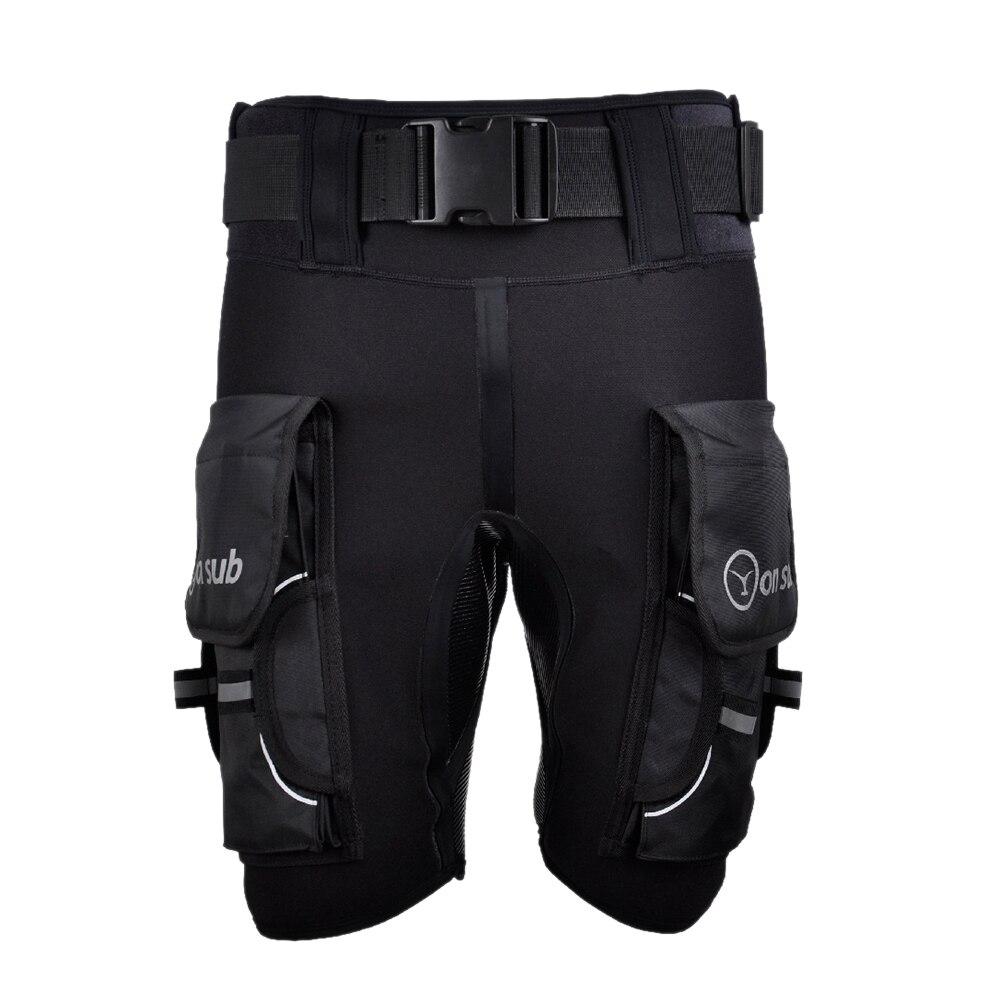 FSTE Yonsub Diving Wetsuit Shorts Men Submersible D Ring Short Pants Mens Printed Technical Surf Snorkeling