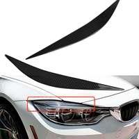 New For BMW F80 M3 F82 F83 M4 2014 2017 Real Carbon Fiber A Pair Car Front Headlight Eyelid Eye Lid Cover Trim Eyebrows