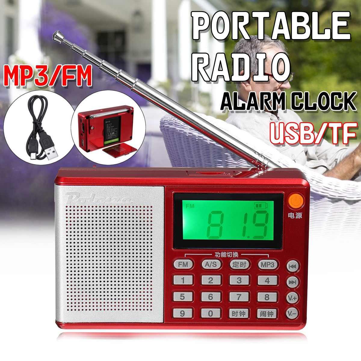 Tragbare Taschen Radio Fm Am Sw Lautsprecher Digitale Mp3 Player Usb Uhr Alarm Mit Led-anzeige Tragbares Audio & Video Radio