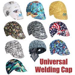 7 kształtów elastyczny kapelusz spawalniczy pochłanianie potu spawacze spawanie czapka ochronna czapka odporne na ogień głowica pełna ochrona kaptury|Przyłbice spawalnicze|Narzędzia -