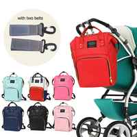2019 2pcs Baby Diaper Bag With Hooks Large Capacity Waterproof Nappy Bag Kits Mummy Maternity Travel Backpack Nursing Handbag