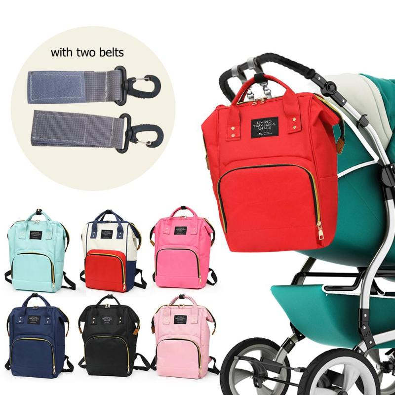 2019 Baby Diaper Bag With Free Hooks Large Capacity Waterproof Nappy Bag Kits Mummy Maternity Travel Backpack Nursing Handbag