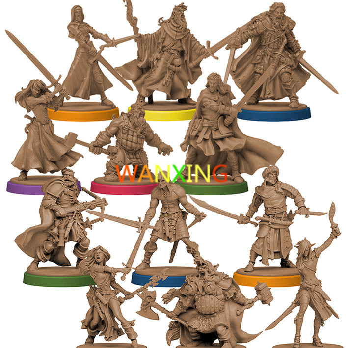 1/72 Plastic Model Role-playing Games Slaughter Zombicide Miniatures Green Tribe Hero Scale Models Toys For Children DIY Kit