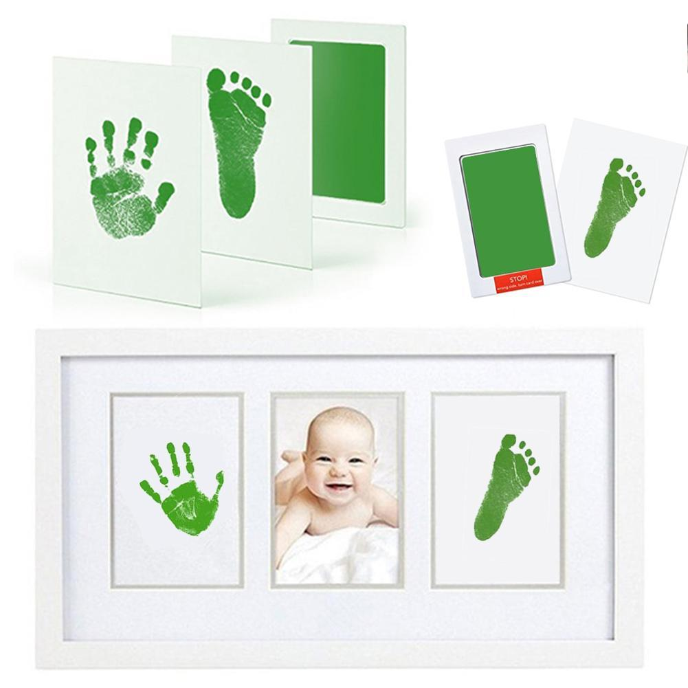Unisex Baby Non-Toxic Handprint Footprint Makers Parent-child Hand Watermark Infant Imprint For Baby Memory