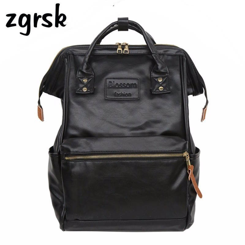 Women Laptop Student Backpack Female School Backpack Pu Leather Ladies Bagpack Backpacks For Teenage Women Bag Mochila Vintage