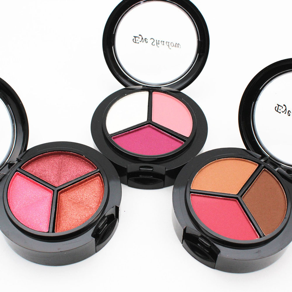 Glitter 3 Color Eyeshadow Make Up Professional Palette Glazed Pigemented Naked Eye Shadow Beauty Brighter Cosmetic With Brushes